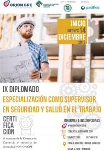 Lee más sobre el artículo IX DIPLOMADO DE ESPECIALIZACIÓN COMO SUPERVISOR EN SEGURIDAD Y SALUD EN EL TRABAJO