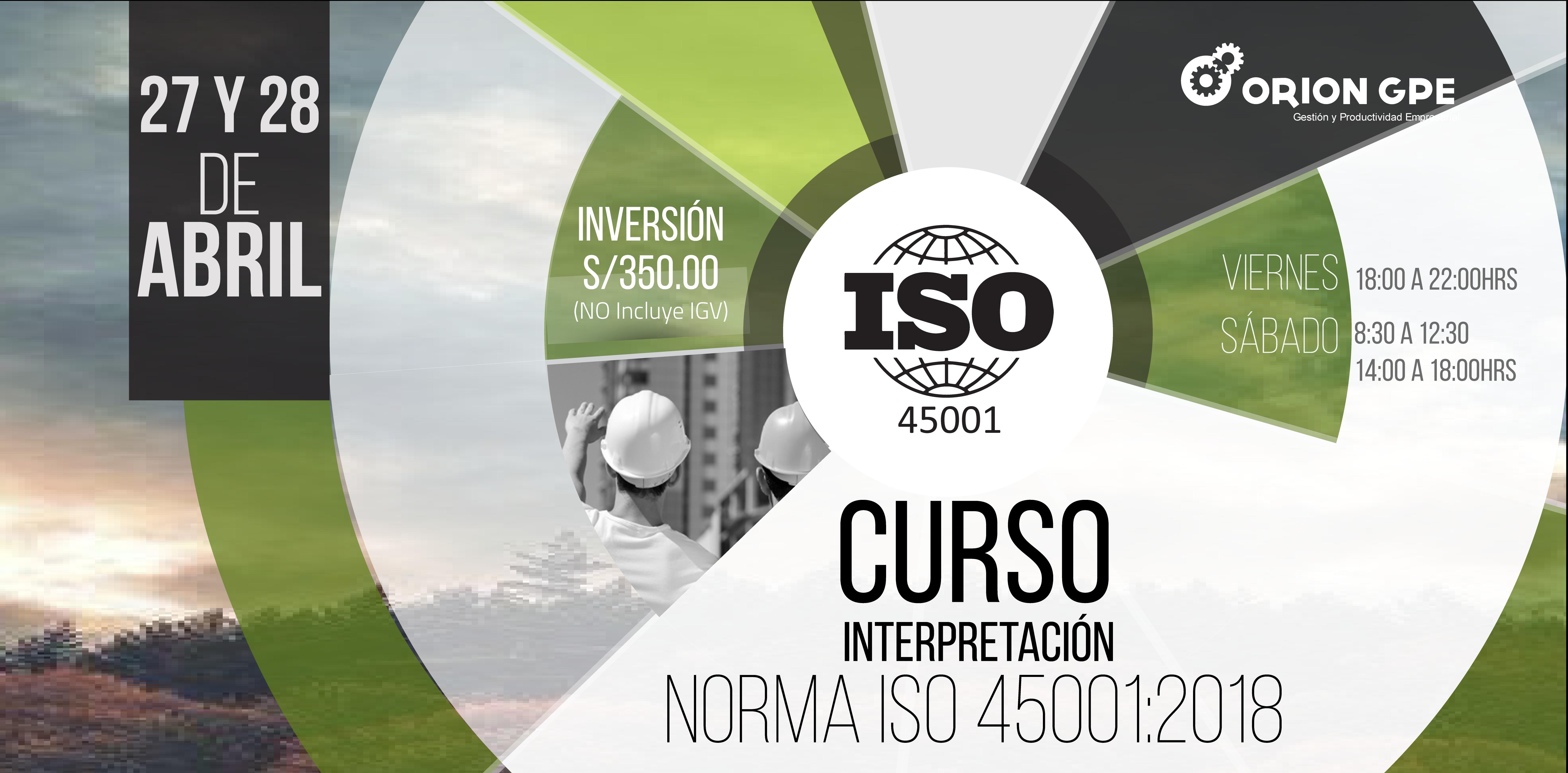 Curso:INTERPRETACIÓN DE LA NORMA ISO 45001:2018