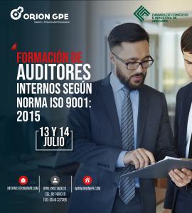 Lee más sobre el artículo FORMACIÓN DE AUDITORES INTERNOS SEGÚN NORMA ISO 9001